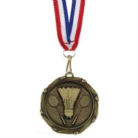 COMBO Badminton Medal with 10mm R/W-AM1060.12